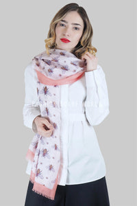 Multi Size Bee Frayed Scarf - Fashion Scarf World