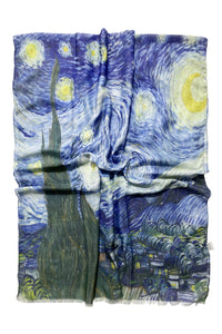Van Gogh Starry Night Print Scarf - Fashion Scarf World