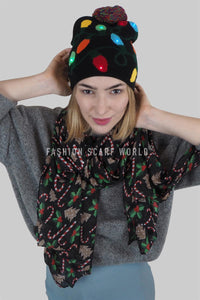 Flashing Christmas Lights Hat - Fashion Scarf World