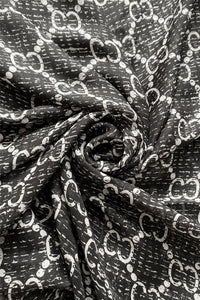 Pearl & Chain Print Silk Scarf - Fashion Scarf World