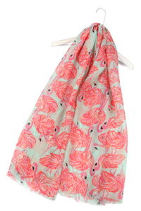 Flamboyances Of Flamingos Print Scarf - Fashion Scarf World