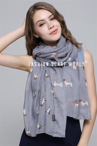 Jack Russell Dog Printed Scarf - Fashion Scarf World