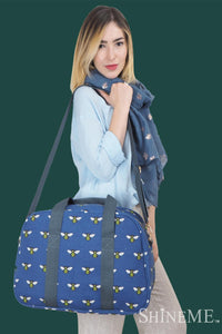 Bee Insect Print Bag Collection - Travel Bag - Fashion Scarf World