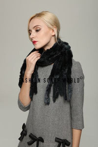 Wide Real Fur Scarf - Fashion Scarf World