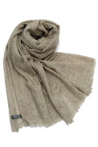 Plain Shaded Colour Pure Cashmere Scarf - Light Coffee - Fashion Scarf World