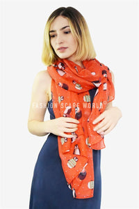 Cute Penguin Christmas Dot Scarf - Fashion Scarf World