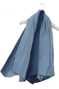 Plain Diagonal Crease Scarf - Fashion Scarf World