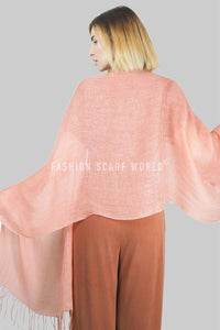 Versatile Classic Plain Tassel Linen Scarf - Fashion Scarf World