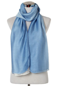 2 Tone Sheen Plain Silk Scarf - Fashion Scarf World
