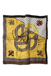 Royal Lilly With Geometric Print Square Scarf - Fashion Scarf World