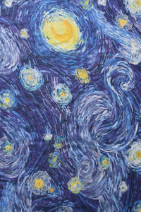 Van Gogh Starry Night Painting Print Scarf - Fashion Scarf World
