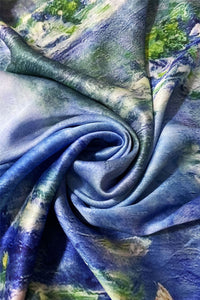 Claude Monet Water Lilly Print Scarf - Fashion Scarf World