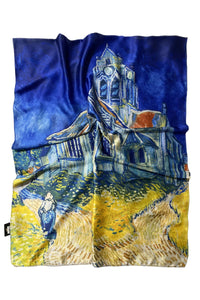 Van Gogh The Church At Auvers Print Scarf - Fashion Scarf World