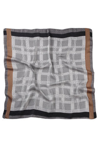 Houndstooth Check Square Scarf - Fashion Scarf World