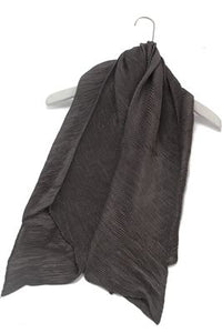 Plain Fine Cross Weave Silk Scarf - Fashion Scarf World