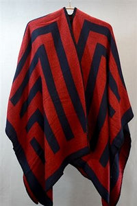 Large Maze Print Cape - Fashion Scarf World