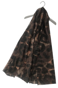 Large Leopard Print Glitter Scarf - Fashion Scarf World