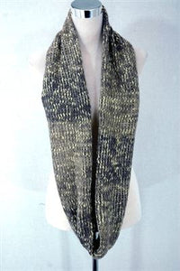 Knitted Gold Thread Wool Snood - Fashion Scarf World