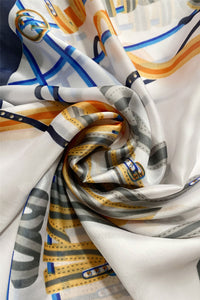 Fashion Belts Print Silk Scarf - Fashion Scarf World