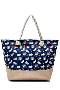 Kitten Print Beach Bag - Fashion Scarf World