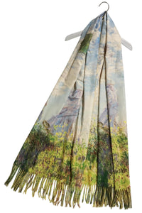 Monet Lady With A Parasol Wool Tassel Scarf - Fashion Scarf World