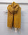 Plain Colour Wool Tassel Scarf