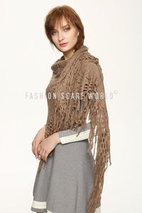 Crochet 6 pettal flower Pattern Poncho - Fashion Scarf World