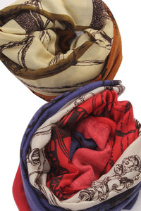 Frayed Chain Print Scarf - Fashion Scarf World