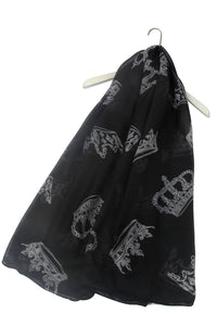 Royal Crown Print Scarf - Fashion Scarf World