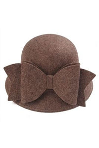Bow bucket Felt Hat - Fashion Scarf World