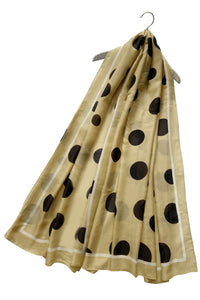 Bold Polka Dot Silk Scarf - Fashion Scarf World