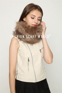 Due Colour Faux Fur Snood - Fashion Scarf World