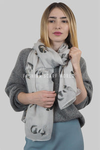 Cute Cat Animal Print Scarf - Fashion Scarf World
