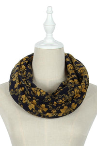 Traditional Floral Print Snood - Fashion Scarf World