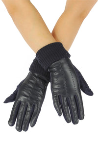 Faux Leather & Suede Style Gloves - Fashion Scarf World