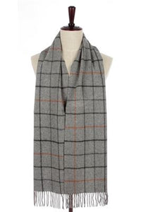 Simple Check Pure Wool Tassel Scarf - Fashion Scarf World
