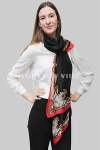 Handbag & Belt Print Silk Scarf - Fashion Scarf World