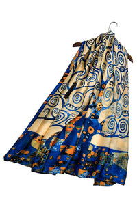 Klimt Tree of Life Painting Print Silk Scarf - Fashion Scarf World