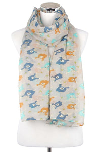 Highland Cow Print Scarf - Fashion Scarf World