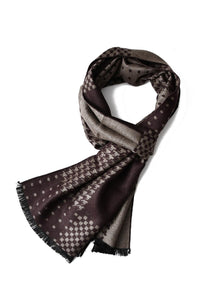 Hounds-tooth Multi Check Frayed Unisex Scarf - Fashion Scarf World
