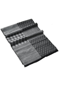 Zigzag Multi Check Frayed Unisex Scarf - Fashion Scarf World