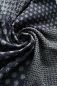 Dot, Tartan & Hounds - tooth Print Frayed Men Scarf - Fashion Scarf World