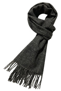 Houndstooth Check Wool Unisex Scarf - Fashion Scarf World