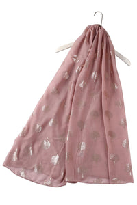 Rose Gold Tree Print Scarf - Fashion Scarf World