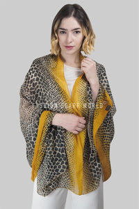 Dip Dye Reptile Print Scarf - Fashion Scarf World