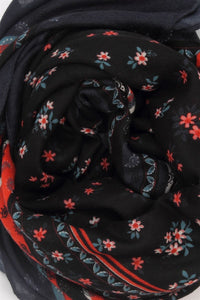 Tiny Daisy & Paisley Print Scarf - Fashion Scarf World