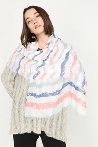 Colourful Horizontal Stripe Sequin Scarf - Fashion Scarf World