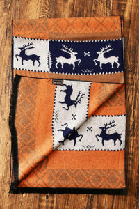 Reindeer Print Frayed Unisex Scarf - Fashion Scarf World