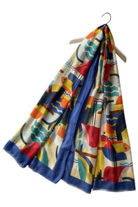 Abstract Toucan Bird Print Frayed Scarf - Fashion Scarf World