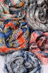 Mini Layered Ditsy Floral Print Scarf - Fashion Scarf World